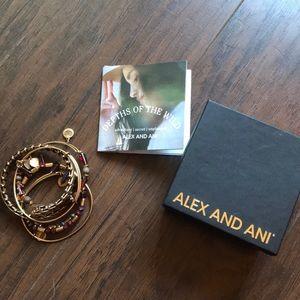 Alex and ani set of 5 bracelets depths of the wild